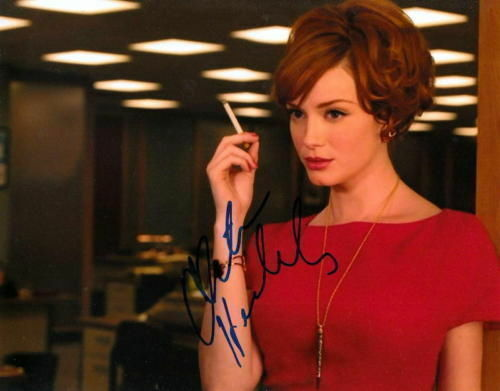 CHRISTINA HENDRCIKS.. Mad Men's Joan Harris - SIGNED