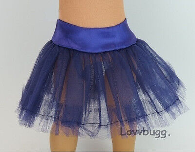 "Lovvbugg Purple Tutu Crinoline Slip Tutu Tulle Skirt for 18"" American Girl Doll Clothes"