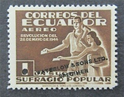 nystamps Ecuador Waterlow Color Proof Stamp Mint OG NH Only 100 Exist.   L30y392