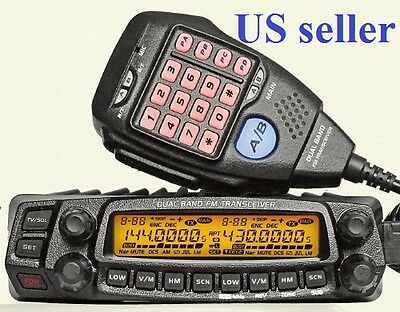 AnyTone AT-5888UV Dual Band 136-174 & 400-490MHz Mobile Two Way Radio  US Seller