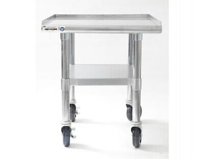 Naks 24 X 27 18 Gauge Stainless Steel Equipment Stand W Undershelf Casters