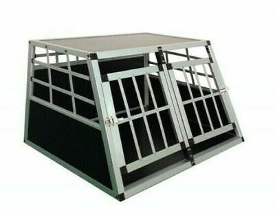 Neues Modell Hundebox Alu für den Transport Box Pet Dog Auto Gitterbox -BX2- NEU Hundebox Für 2 Hunde