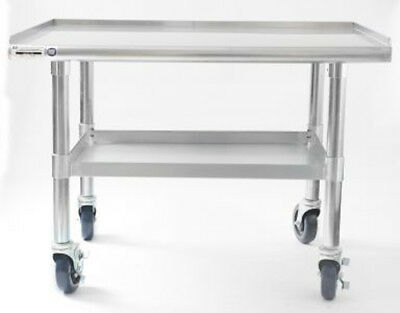 Naks 48x27 18 Gauge Stainless Steel Equipment Stand W Undershelf And Casters