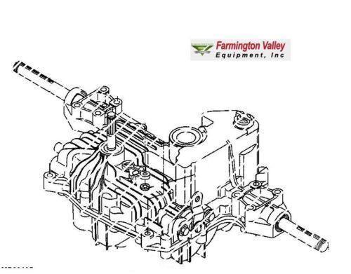 John Deere Lt155 Bagger Diagram : John deere lt transmission ebay