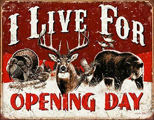 """Desperate Enterprises I Live for Opening Day Tin Sign, 16"""" W x 12.5"""" H"""