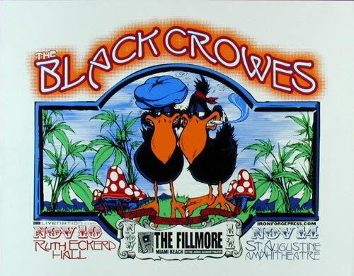 Scarce Black Crowes Fillmore Miami Beach 2008 Poster