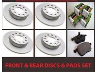 VAUXHALL VECTRA C 1.9 CDTi 2004-2009 FRONT & REAR BRAKE DISCS AND PADS SET NEW