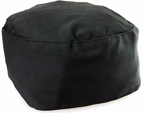 Black Chef Hat Elastic On Back. One Size Fit Most.