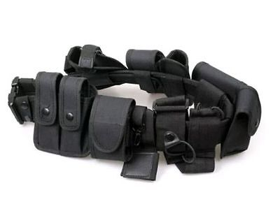 Security Guard Police Style Utility Kit Tactical Belt W Pouch System Duty Belt