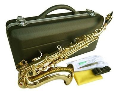 NEW BRASS CURVED SOPRANO SAXOPHONE SAX W/CASE-QUALITY+ WARRANTY. on Rummage