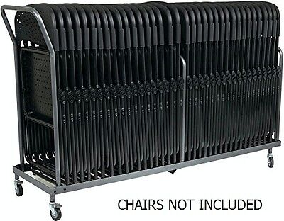Folding Chair Dolly (Vertical Storage Folding Chair Dolly - 32 Folded Chairs Stacking Dolly)