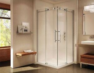 Caml Tomlin Matrix Corner Shower Glass Door