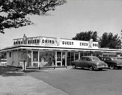 1950S Dairy Queen Large Photo 11X14   Ice Cream Diner Restaurant