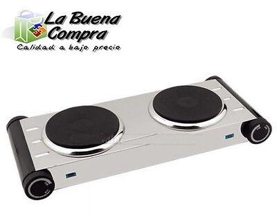 COCINA ELECTRICA 2 QUEMADORES PLACAS 2000W DUO HORNILLO DOBLE METALICO GARANTIA