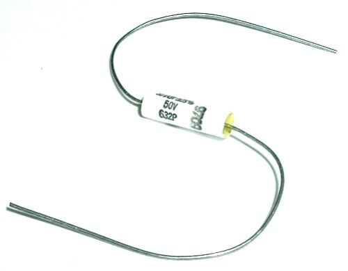 0.1uF 50VDC 5% Polycarbonate Film Capacitors Dearborn 632P103X5050 (40 pcs)
