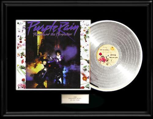 PRINCE PURPLE RAIN ALBUM WHITE GOLD PLATINUM TONE RECORD LP ALBUM RARE NON RIAA