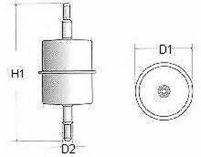 Champion CFF100101 Kraftstofffilter Eingang L101 Ersatz 156720,156721