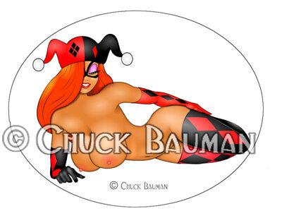 Sexy Bomber Girl Jessica Rabbit Harley Quinn #3 girl pin-up sticker decal X