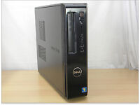 Dell i3-2120 3.33GHz desktop pc, slimline case, 250GB Hard drive, 8GB RAM, Windows 7 Pro