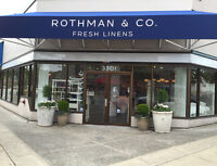 F/T or P/T SALES POSITIONS IN UPSCALE BED BATH & HOME BOUTIQUE
