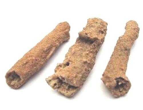 "3 specimens  FULGURITE Morocco 2.25"" long - 3pcs for $18 - FOSSILIZED LIGHTNING!"