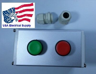 Autonics Metal Push Button Station Switch Start Stop 110250vac 10a 1no-1nc