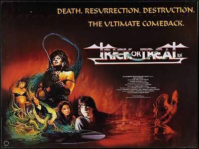 TRICK OR TREAT Movie POSTER 27x40 UK Tony Fields Marc Price Ozzy Osbourne Gene