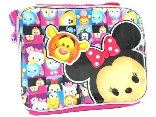 Disney Tsum Tsum School Lunch Bag Insulated Snack Cooler Box