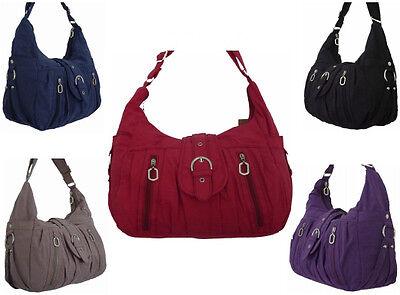 Damenhandtasche Stofftasche modern leicht in verschiedenen Farben
