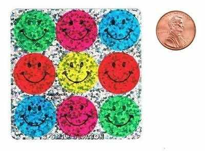 90 Glitzy Smiley Face Dot Stickers Kid Reward Party Goody Favor Teacher Supply](Party Smiley Face)