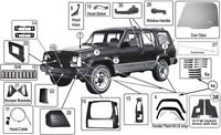 JEEP AUTO BODY AND MECHANICAL PARTS IN TORONTO