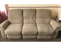 3 seater, reclining sofa.