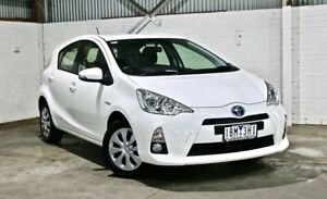 2014 Toyota Prius c NHP10R E-CVT White 1 Speed Constant Variable Hatchback Hybrid Thomastown Whittlesea Area Preview