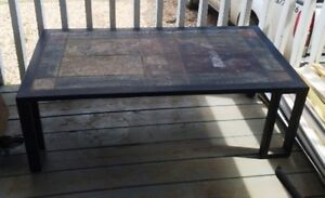 METAL  &  CERAMIC  COFFEE  TABLE  FOR  SALE