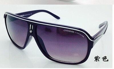 Men & Women's Retro Sunglasses Unisex Matte Frame Carrera Glasses (Carrera Sunglasses Purple)