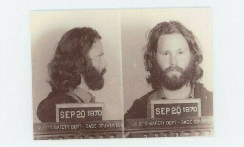 Jim Morrison Mug Shot  - Rock and Roll  METAL trading card - The Doors