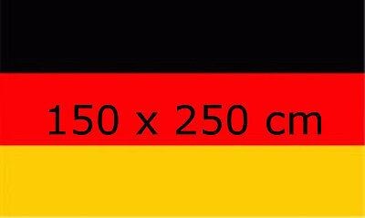 Deutschland Flagge 150 x 250 cm XXL Fahne sehr groß   Fanartikel  WM 2018