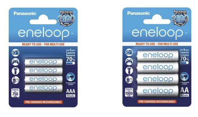 Panasonic eneloop Akkus AAA Micro 800 mAh - AA Mignon 2000 mAh auflad. Batterien