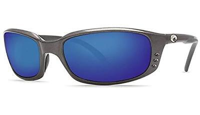 70405339b000c New Costa Del Mar Brine Polarized Sunglasses 580P Gunmetal Blue Mirror  Fishing