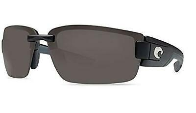 147f2090d4 New Costa Del Mar Rockport Polarized Sunglasses 580P Matte Black Gray  Rimless