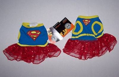 DC Comics Supergirl Dog Costume Dress Size Small Halloween Superman Girl