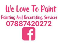 Painting and decorating painter and decorating