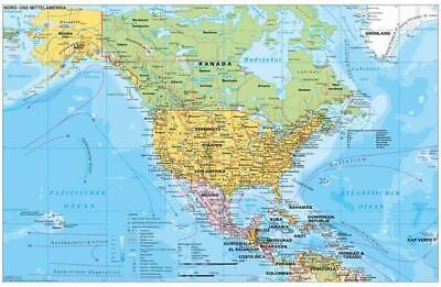Nord- und Mittelamerika politisch 1 : 90.000 000