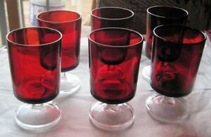 WINE Glasses ****6 RUBY RED-SHARP Made in France