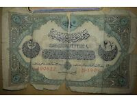 TURKISH / OTTOMAN CURRENCY / BANK NOTES x 3 (circa 1916)