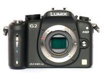 Panasonic Lumix G2 DSLR Camera Plus Lenses - Vintage 50mm / 35mm / 28mm