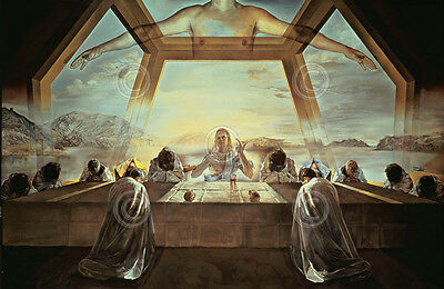 Salvador Dali The Sacrament of the Last Supper Surrealism Print Poster 24x32
