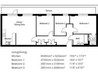 3 Bed Apartment, £335PW , Local Amenities , Local Park , available NOW!!!!!- Upney, Becontree RM8-SA