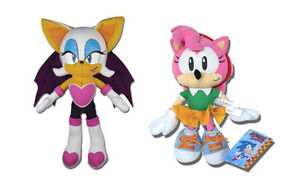 NEW-SET-OF-2-SONIC-THE-HEDGEHOG-STUFFED-PLUSH-DOLL-TOYS-ROUGE-THE-BAT-AMY
