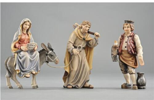 In Search of Shelter - Mary and Joseph to Bethlehem - PEMA Woodcarvings, Painted